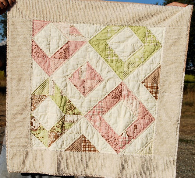 Washed and crinkly baby quilt