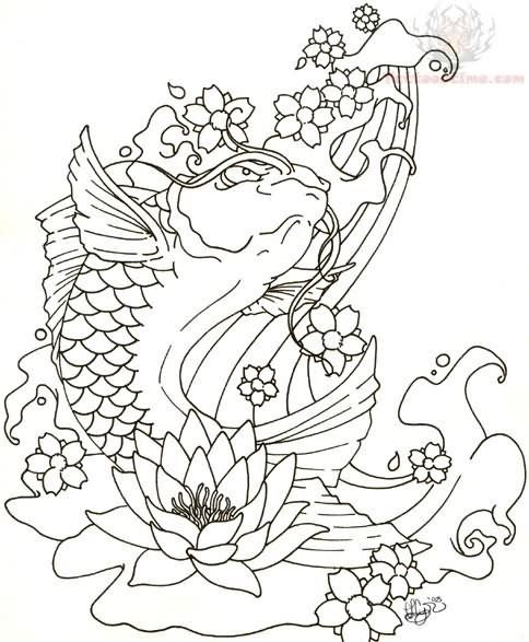 Tattoo Art Koi Fish by Tattoostime   Grown Up Coloring ...