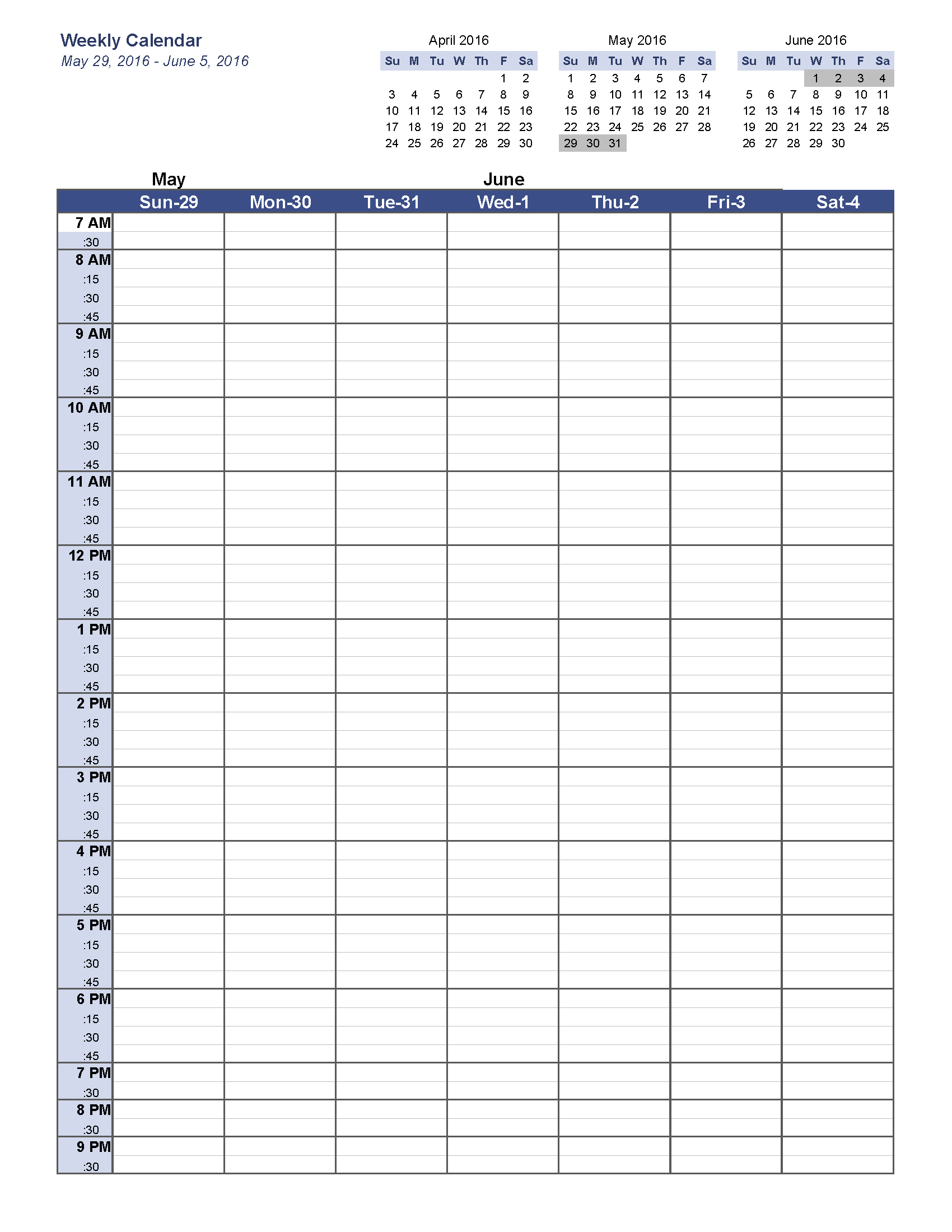 weekly calendar template may 2016 w5