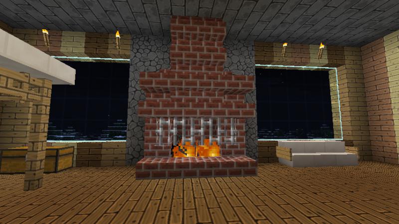 13 Minecraft Fireplaces Ideas Minecraft Fireplace Minecraft Minecraft Furniture