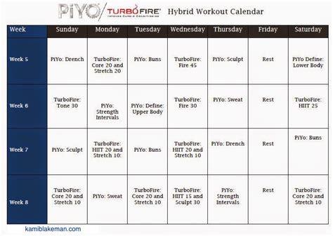 turbo firepiyo hybrid workout schedule fit momma