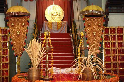 Traditional decor at a Malayali Hindu Wedding. #
