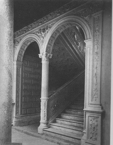 Interior del Hotel Castilla (Toledo) durante su construcción. Fotografía de Casiano Alguacil hacia 1890