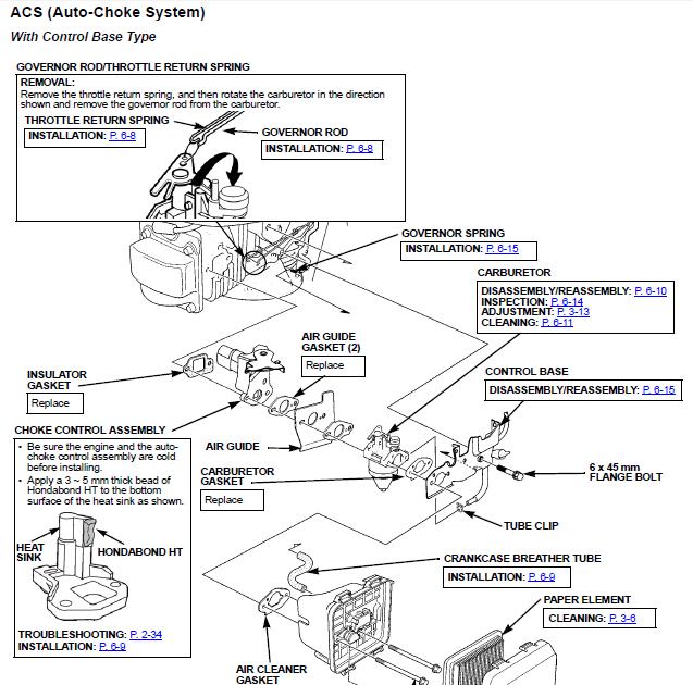 Briggs And Stratton Auto Choke Diagram