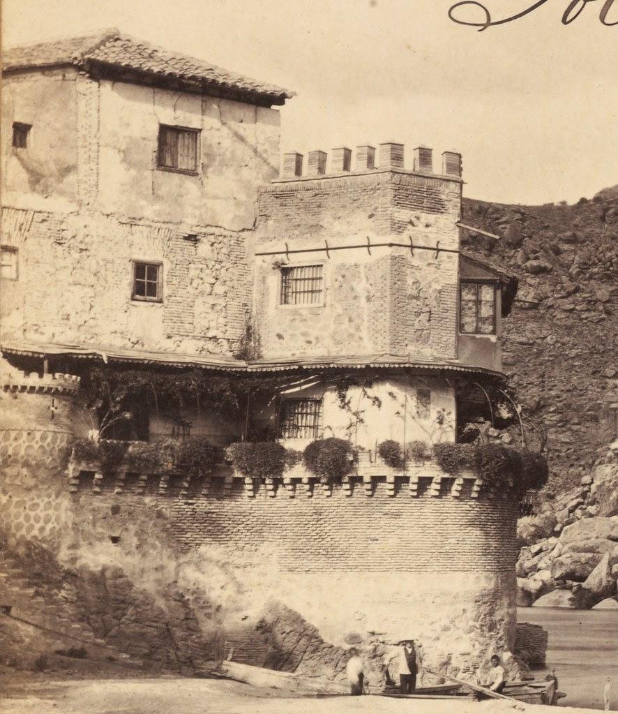 Casa del diamantista hacia 1860. Fotografía de Francis Frith (detalle)