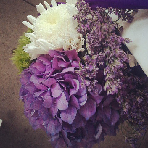 Pretty wedding flowers :)