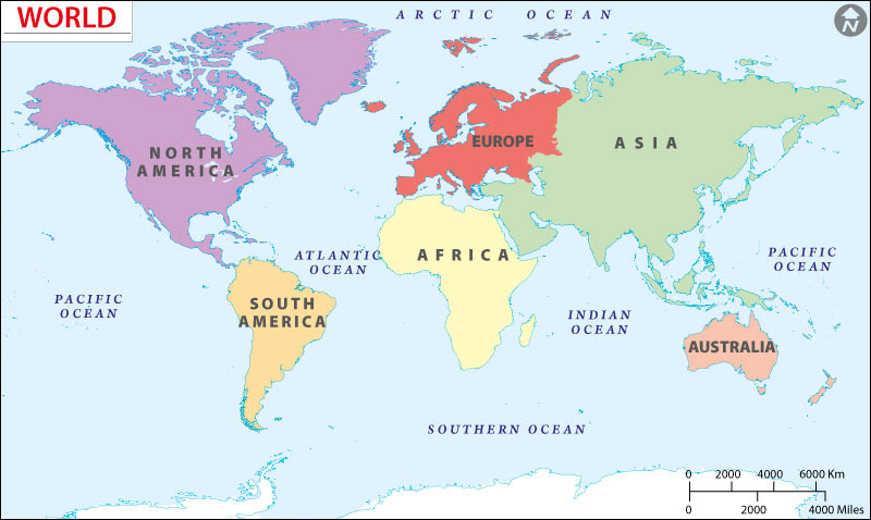 Map Of World Continents