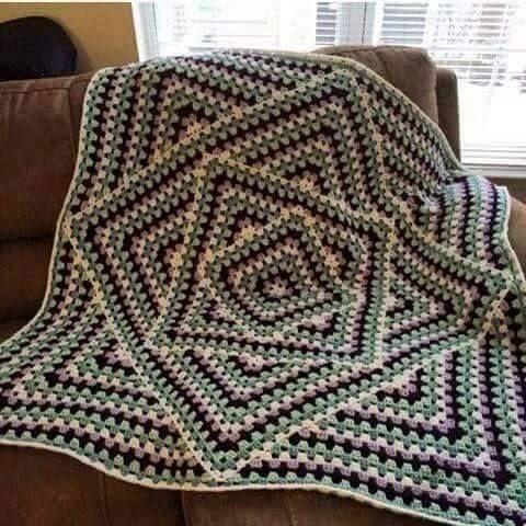My Hobby Is Crochet Interesting Granny Square Blanket