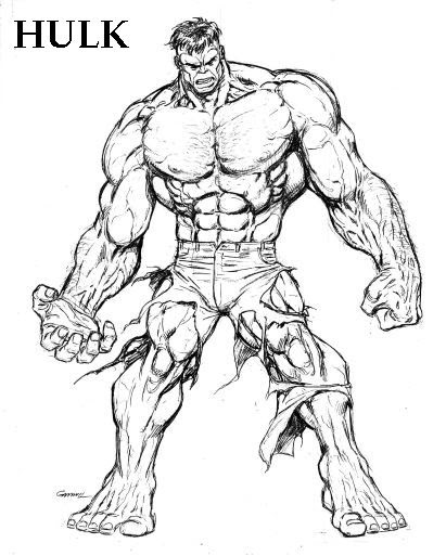 Coloriages à Imprimer Hulk Numéro 605058