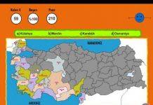 şehir Bulma Oyunu Türkiye Haritası