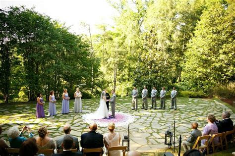 Love this stone amphitheater wedding venue at Dunaway