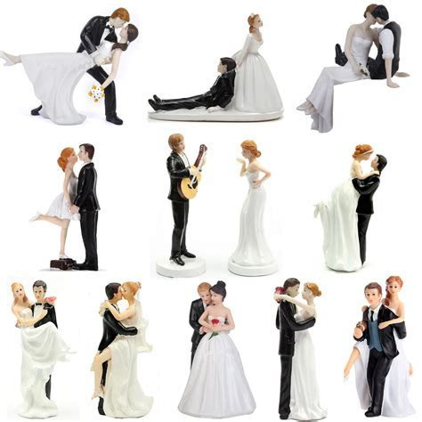 ROMANTIC FUNNY WEDDING CAKE TOPPER FIGURE BRIDE GROOM