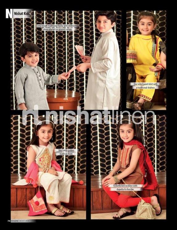 Nishat-Linen-New-Latest-Eid-Suits-Kids-Wear-Dresses-Collection-2013-