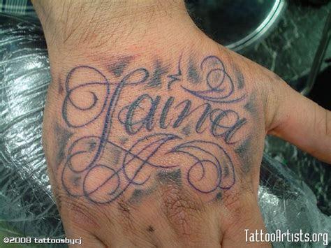 hand tattoos script images pinterest badass