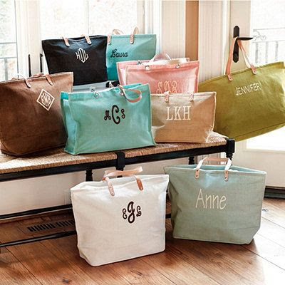 Bridesmaid gift idea - Ballard Tote Bags -  The large, personalized, is only $25, medium only $20