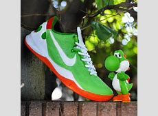 "Nike Zoom Kobe VIII (8) ""Yoshi"" Customs by Kickstradomis"
