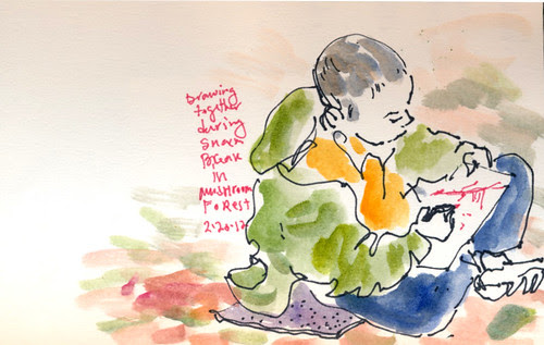 February 2012: Sketching Together by apple-pine