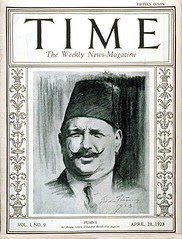 King Fouad I on the cover of the time