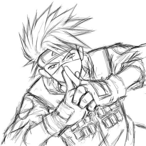anime naruto kakashi drawing google search stuff
