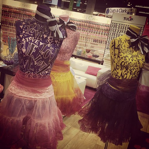 The Tulip Love mannequins made by @betseyjohnson designer Charlene Pack!