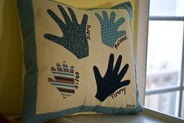 Grandparents Hand Pillow