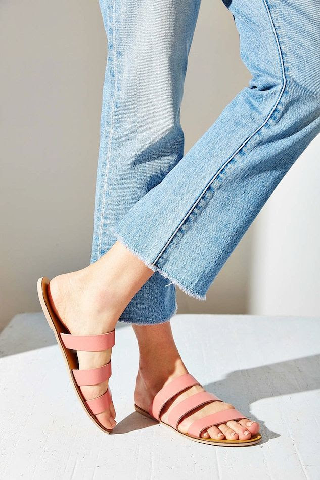 Le Fashion Blog Shoe Crush Pink Sandals Under 25 Raw Hem Jeans Cheap Summer Style Silence + Noise Lucia Strap Sandal photo Le-Fashion-Blog-Shoe-Crush-Pink-Sandals-Under-25-Raw-Hem-Jeans-Cheap-Summer-Style-Silence-Noise-Lucia-Strap-Sandal.jpg