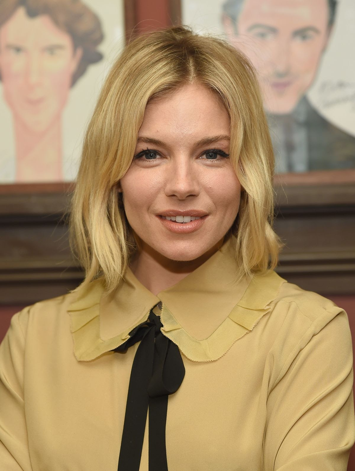 SIENNA MILLER at Sienna Miller Caricature Unveiling at Sardi