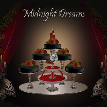 Second Life Marketplace   Midnight Dreams Wedding Cake