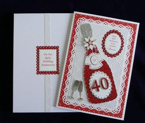 Ruby 40th Wedding Anniversary Card  Box Wife/Friends