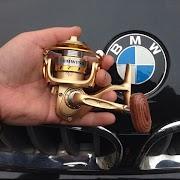 Best BMW новые горячие 2017 топ продаж мини 150 специально для спиннингом Рыбная ловля 13 шарикоподшипники углерода легкий деревянные ручки Золото Недорого H2 Купить Онлайн