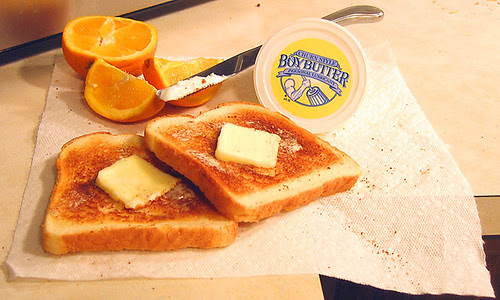 Butter fat is about 12% myristic acid, which increases both LDL and HDL.