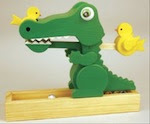 Crocodile Rock Drop Woodworking Plan - fee plans from WoodworkersWorkshop® Online Store - marble toys,childres,childs,kids,crocodiles,alligators,full sized patterns,woodworking plans,woodworkers projects,blueprints,drawings,blueprints,how-to-build,MeiselWoodHobby