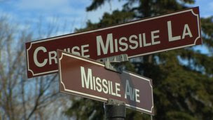 Signs at Minor Air Force Base