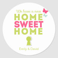 Home Sweet Home {new home} Cupcake Toppers/Sticker