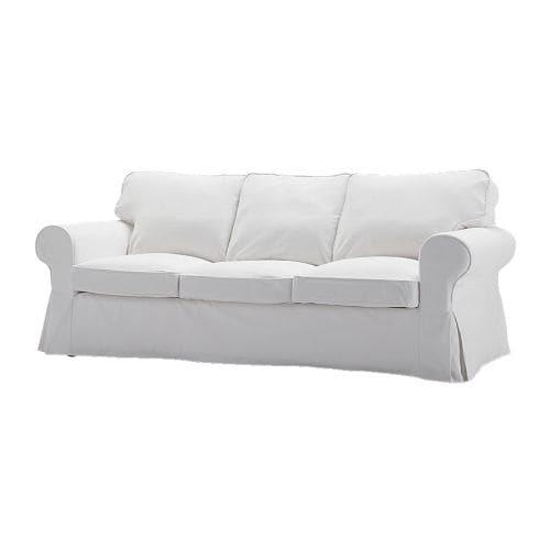 EKTORP Sofa trzyosobowa IKEA Pokrycie można zdjąć i wyprać w pralce, dzięki czemu łatwo utrzymać je w czystości.
