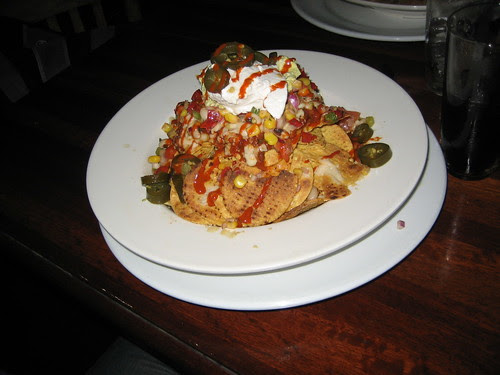 vegan nachoes at the east brunswick club