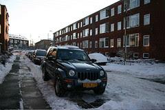 Jeep i snevejr