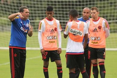 Luxemburgo, Gabriel, Jonas, Flamengo (Foto: Gilvan de Souza / Flamengo)