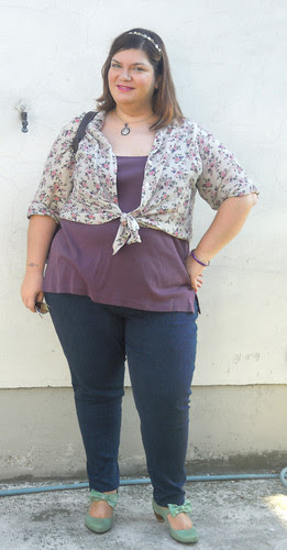 Mauve and flowers outfit