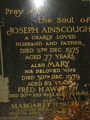 Joseph Ainscough (1898-1975) & Mary Ainscough (1897-1979)