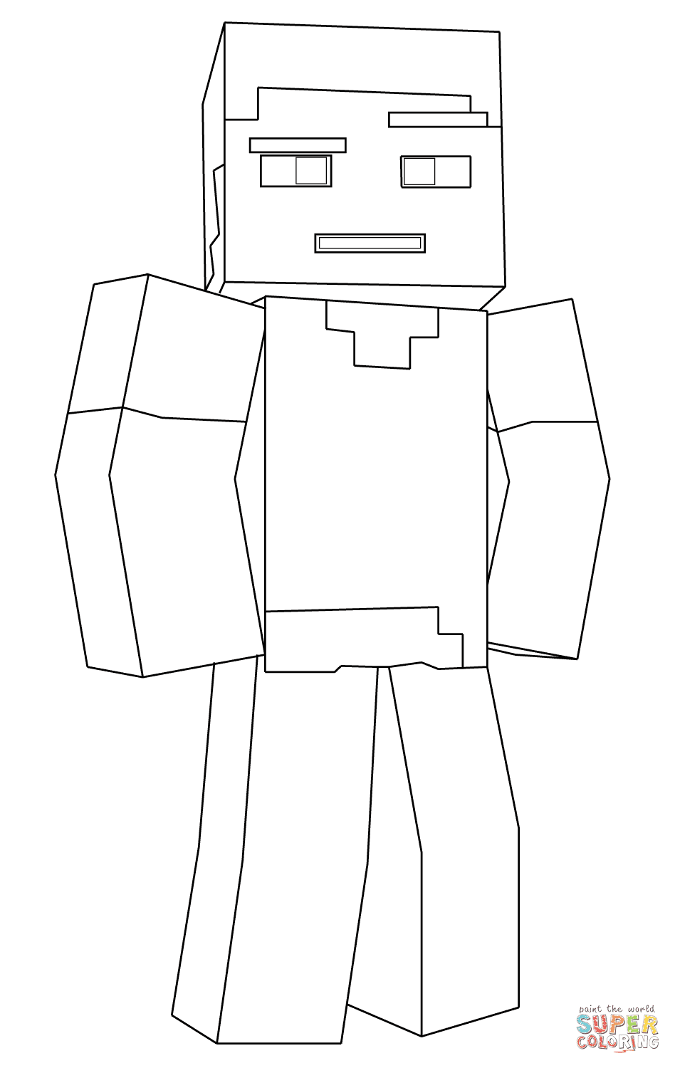 Printable Coloring Pages For Kids Minecraft Drawing With Crayons