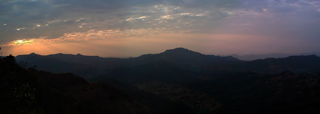 Pratapgad & the setting sun.