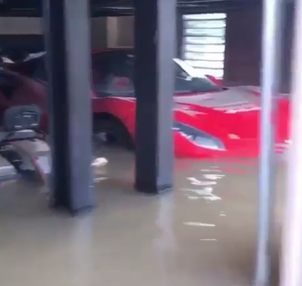 Trending video shows the damage caused to some luxury cars by Hurricane Harvey
