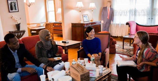 Oxfam acoge a varios refugiados en la antigua casa de Donald Trump. Chris Gregory/Oxfam