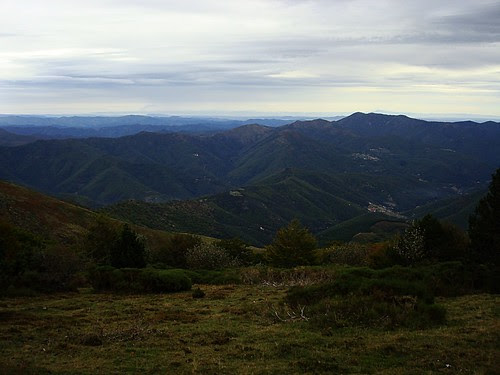 From the Cevennes, looking east