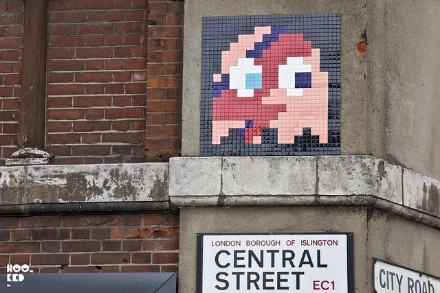 Old Street Street Art with French street artist Invader
