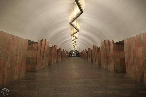 Moscow Metro Empty Tunnel