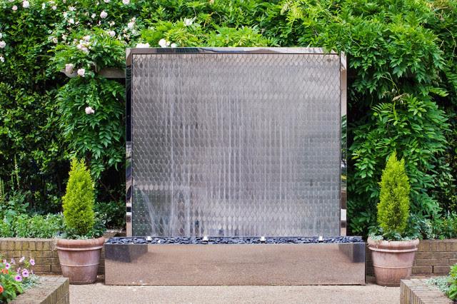 Petal wall fountain - Contemporary - Outdoor Fountains - london ...