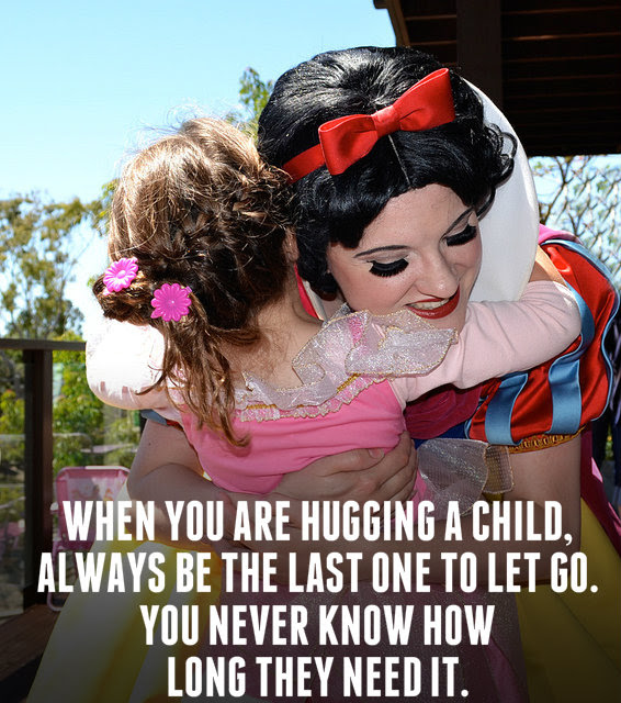 Cute Retired Disney Princess Quote On Helping Brighten A Childs Day