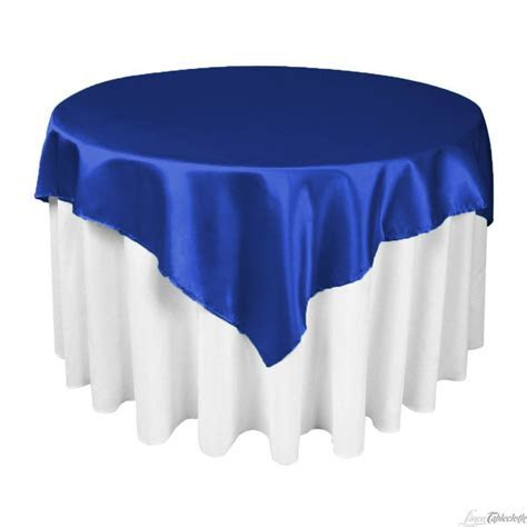 60 in. Square Satin Overlay Royal Blue   Satin, Blue satin